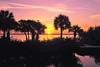 Banana River Sunrise<br /> Merritt Island, Florida<br /> 195-7771a