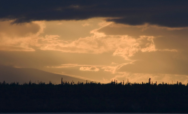 This sunset was captured near downtown Anchorage looking out toward Cook Inlet in late July 2006.