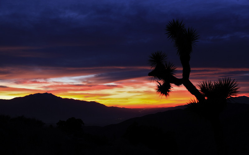 Keys View at sunset - Joshua Tree National Park