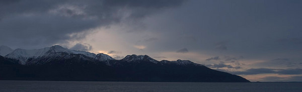 This photograph was taken just after daybreak in December 2005 along Turnagin Arm, just south of Anchorage, Alaska.