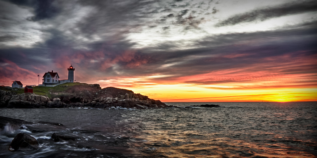 Sunrise at Cape Neddick