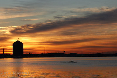 Inner Harbor's rower at sunrise.