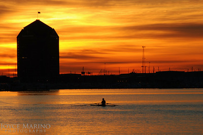 Inner Harbor's rower at sunrise, #0086 - General Landscape.