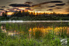 HDR Sunset from Wander Lake in Fairbanks, AK just after midnight on July 2, 2012.