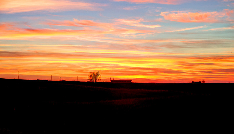 Farmhouse Prairie Sunset - Kennebec, SD