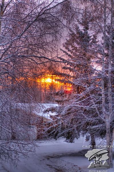 """December Sunset"" - 2:21pm December 9, 2012"