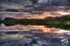 Sunset at Wander Lake 12:15 am on June 26, 2012. HDR