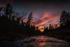 Autumn Spring Creek Sunset