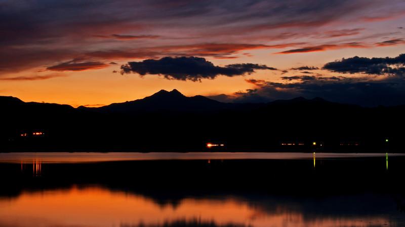 Sunset over McCall Reservoir, Longmont, CO