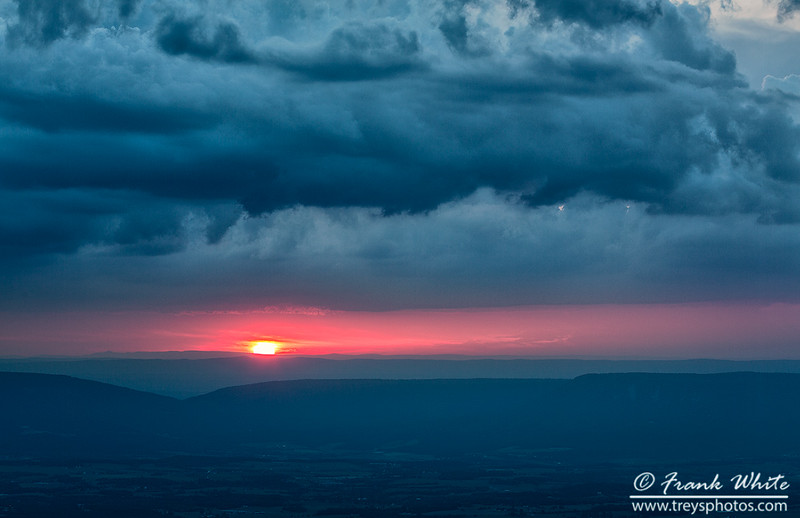 Sunset and storms on the Blue Ridge