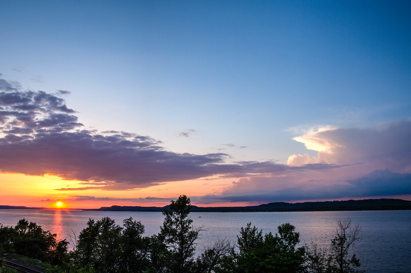 Sunset over Lake Pepin