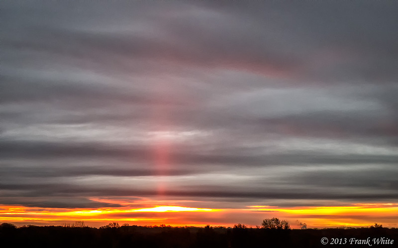 Sunrise, with sun pillar
