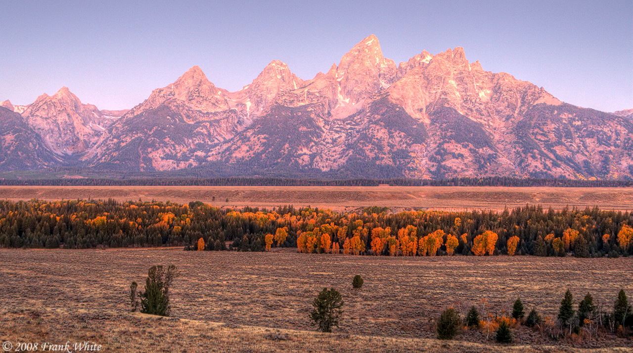 Tetons Sunrise, north of Jackson Hole, Wyoming.