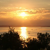 Sunset over Lake Pepin on the Mississippi River just north of Reades Landing Minnesota