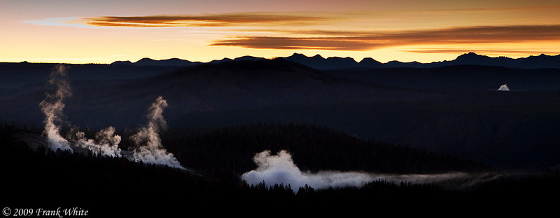 Sunrise from the top of Dunraven Pass.