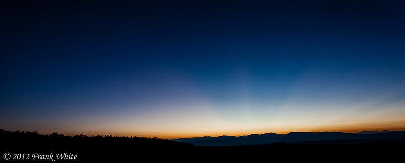 Stars and pre-dawn glow, west of Santa Fe, near Bandoleer National Monument.