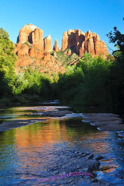 Cathedral Rock at sunset in Sedona Arizona.