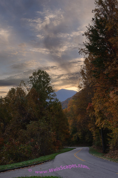 Sunrise in the Smokey Mountains.
