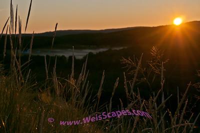 Sunrise at the Dune Climb.  Sleeping Bear Dunes National Lakeshore.