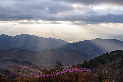 Sunrise on the Blue Ridge Parkway.