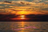 Sunset over Lake Michigan from the Esch Road beach.  See the Sunrise and Sunsets gallery for more photos.