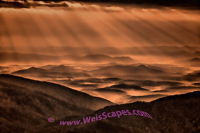 It's hard to convey the subtle spectacle of a sunrise over the Blue Ridge Parkway.