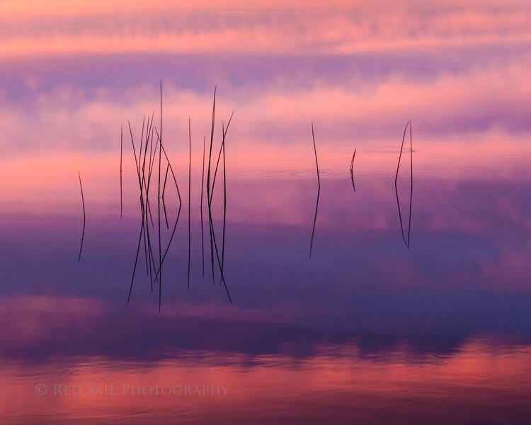 Sunset Reflection on Parks Pond