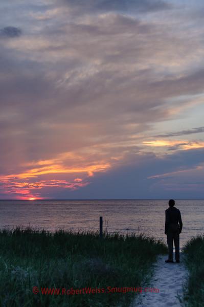 Watching the sunset over Lake Michigan, Sleeping Bear Dunes National Lakeshore.
