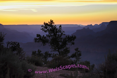 Sunset at the Desert View area of the Grand Canyon.