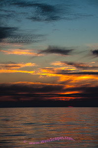 Sunset over Lake Michigan from the Esch Road beach.  Sleeping Bear Dunes National Lakeshore.