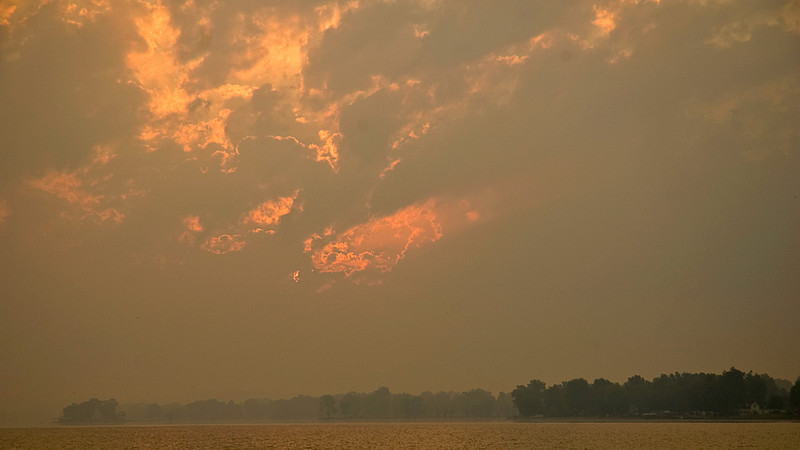 Sunrise on Buckeye Lake, Ohio