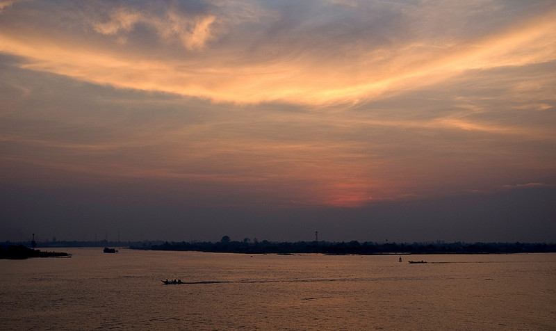 Sunset in the Mekong Delta, Vietnam (See Travel>Vietnam>On the Mekong)
