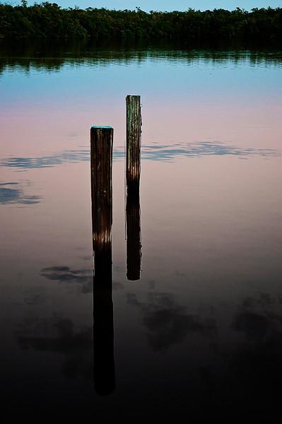 Dusk on Lake Placid; Everglades City, FL
