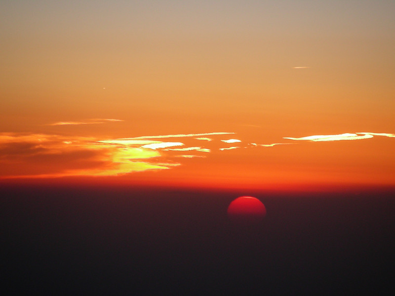 sunset from 37000'