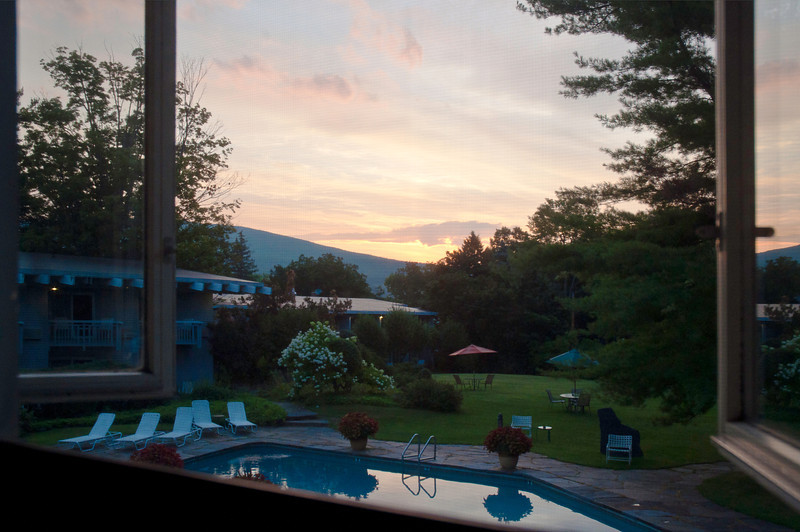 """From our favorite room at the Paradise Inn in Bennington, VT which in addition to its other benefits and amenities is directly across the street from the world headquarters of Hemmings  <a href=""""http://www.hemmings.com/"""">http://www.hemmings.com/</a>)."""
