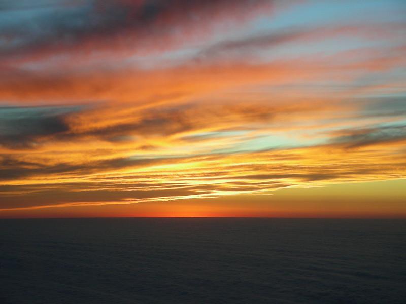 Sunrise from waaaay up.