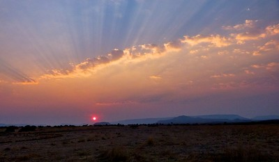 Damaraland at sunset.