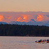 Salmon Fishing in Tyee tradition from a rowboat.  Cambell River BC