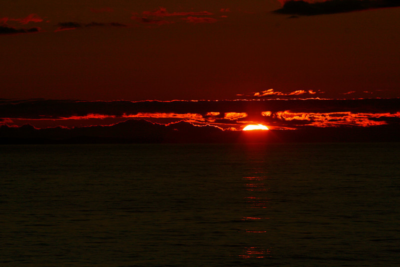 This was the last sunset I saw in NF, Off the Burin Peninsula.