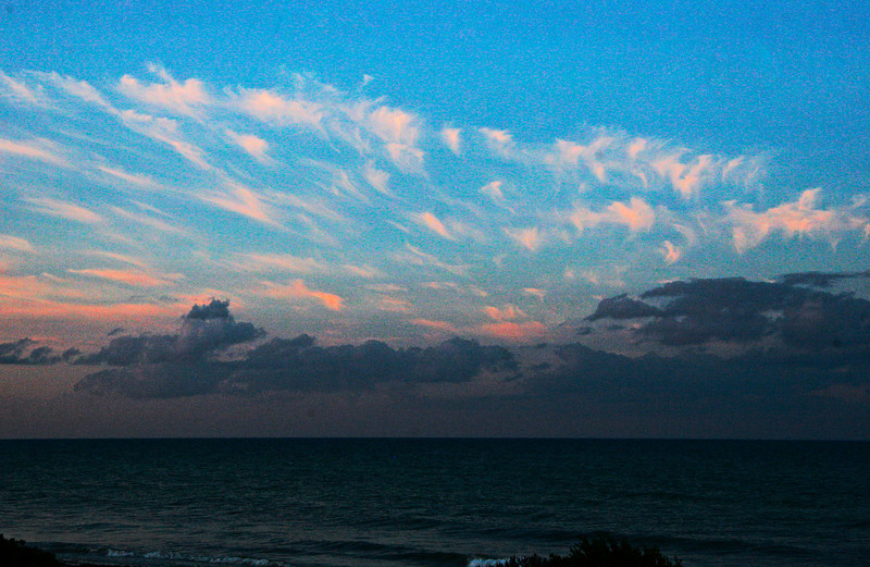 Cirus clouds over the Gulf of Mexico