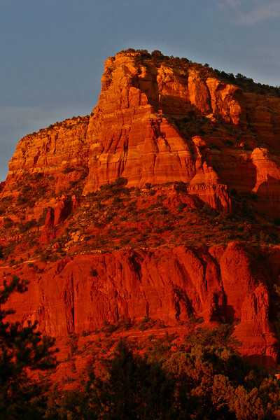 Red cliffs above Sedona