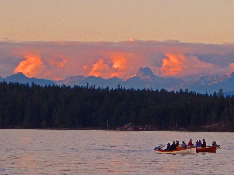 tyee fishing sunset