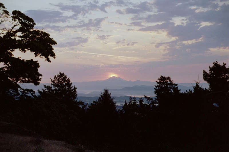 Mt Baker Sunrise on a certain day