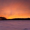 Kiss the Sky<br /> Sunset from the ice of a frozen Lake Massabesic<br /> January 2010<br /> I didn't do anything to the colors in post.  This is how it looked.  Most spectacular sunset I've seen yet.