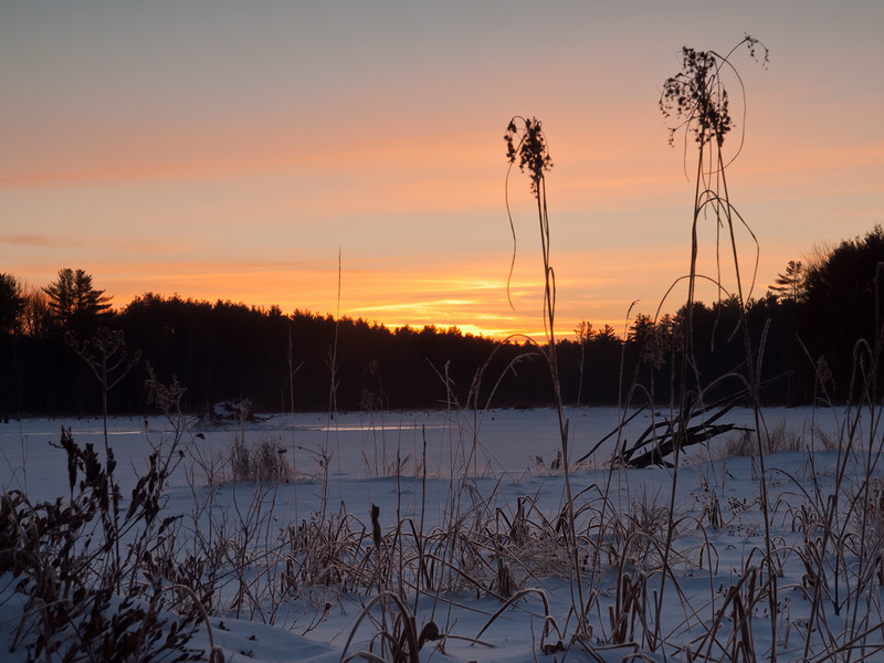 Sunrise over Hayes Marsh @ Bear Brook State Park.
