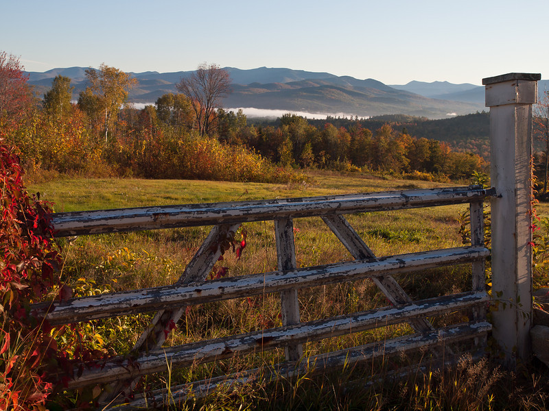 early morning in Campton NH.  Not sure if the fence is too much, but I liked it anyway.