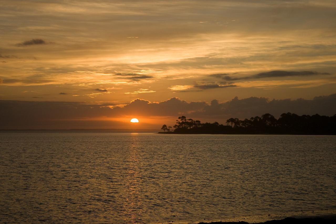 Sunrise at St Joseph State Park in Port St. Joe, Florida