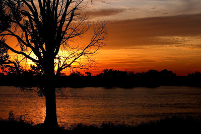 Sunrise on Marion County Lake, Marion, Kansas