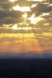 Early morning vista over Redding, CA