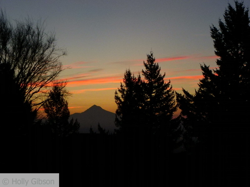 March sunrise over Mt. Hood - Nansen Summit - 49